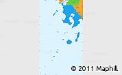 Political Simple Map of Kagoshima