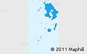 Political Simple Map of Kagoshima, single color outside