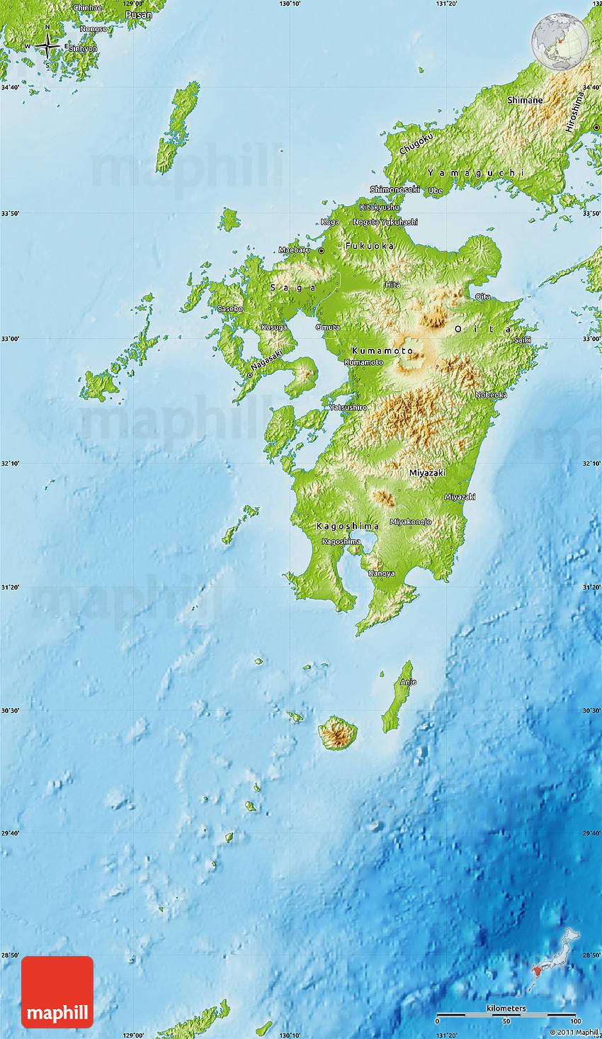Physical Map of Kyushu on hainan map, okinawa island, fukuoka map, kuril islands, hiroshima map, sakhalin island map, ryukyu islands map, miyazaki map, kagoshima prefecture, kanto map, japanese archipelago, japanese archipelago map, ryukyu islands, fukuoka prefecture, japan map, okinawa map, manchurian plain map, nagasaki prefecture, gobi desert map, shikoku map, sea of japan, japanese alps map, hokkaido map, honshu map, sumatra map, bangkok map, loess plateau map, kuril islands map, okinawa prefecture,