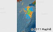 Political Map of Kyushu, darken