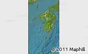 Satellite Map of Kyushu
