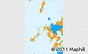 Political Simple Map of Nagasaki