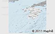 Gray Panoramic Map of Kyushu