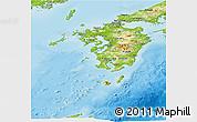 Physical Panoramic Map of Kyushu