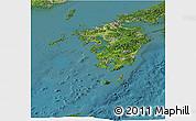 Satellite Panoramic Map of Kyushu