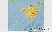 Savanna Style Panoramic Map of Kyushu