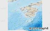 Shaded Relief Panoramic Map of Kyushu