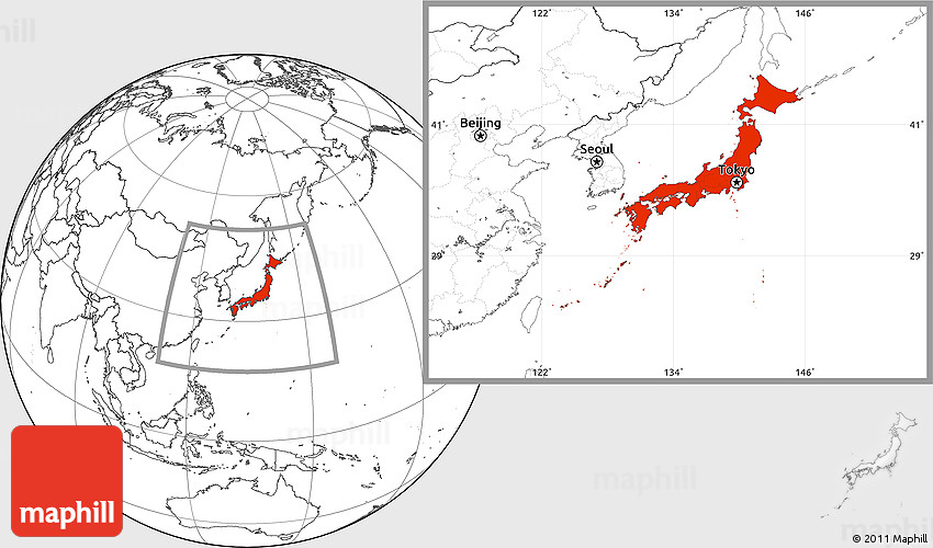 Blank Location Map Of Japan