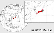 Flag Location Map of Japan, blank outside