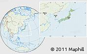 Savanna Style Location Map of Japan, lighten