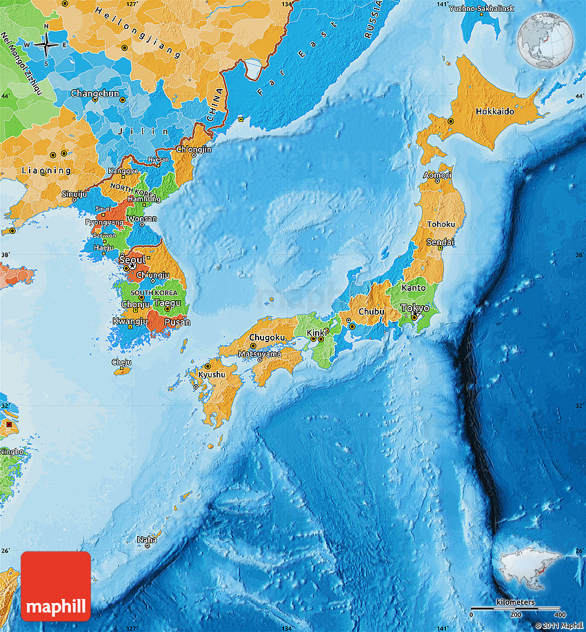 Political Map Of Japan - Japan map political