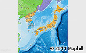 Political Shades Map of Japan
