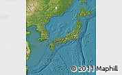 Satellite Map of Japan