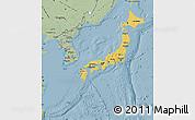 Savanna Style Map of Japan