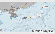Gray Panoramic Map of Japan