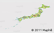 Physical Panoramic Map of Japan, cropped outside