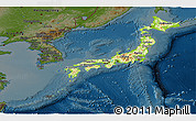 Physical Panoramic Map of Japan, darken