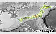 Physical Panoramic Map of Japan, desaturated