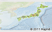 Physical Panoramic Map of Japan, lighten