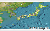 Physical Panoramic Map of Japan, satellite outside