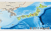Physical Panoramic Map of Japan, shaded relief outside