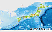 Physical Panoramic Map of Japan, single color outside