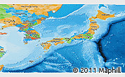 Political Panoramic Map of Japan