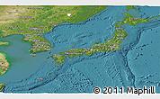Satellite Panoramic Map of Japan