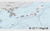 Silver Style Panoramic Map of Japan