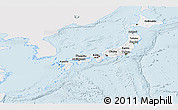 Silver Style Panoramic Map of Japan, single color outside