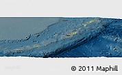 Physical Panoramic Map of Ryukiu-Islands, darken