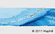 Physical Panoramic Map of Ryukiu-Islands, political outside
