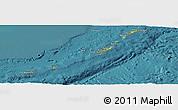 Physical Panoramic Map of Ryukiu-Islands, satellite outside