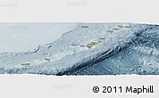 Physical Panoramic Map of Ryukiu-Islands, semi-desaturated