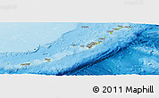 Physical Panoramic Map of Ryukiu-Islands, shaded relief outside