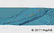 Satellite Panoramic Map of Ryukiu-Islands