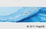 Shaded Relief Panoramic Map of Ryukiu-Islands
