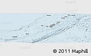 Silver Style Panoramic Map of Ryukiu-Islands