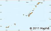 Political Simple Map of Ryukiu-Islands
