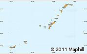 Political Simple Map of Ryukiu-Islands, single color outside
