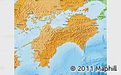Political Shades Map of Shikoku