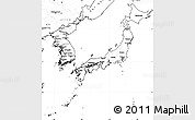 Blank Simple Map of Japan