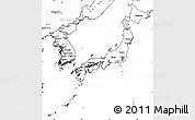Blank Simple Map of Japan