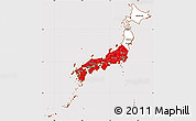 Flag Simple Map of Japan, flag rotated