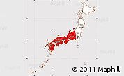 Flag Simple Map of Japan