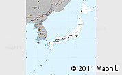 Gray Simple Map of Japan