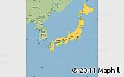 Savanna Style Simple Map of Japan