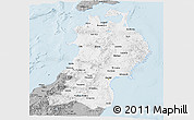 Gray Panoramic Map of Tohoku