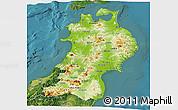 Physical Panoramic Map of Tohoku, satellite outside