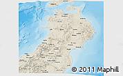 Shaded Relief Panoramic Map of Tohoku